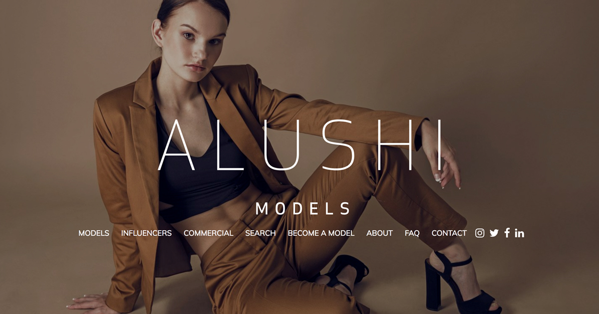 Become a Model with Alushi Models, model management agency